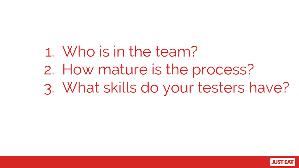 1. Who is in the team? 2. How mature is the pro...