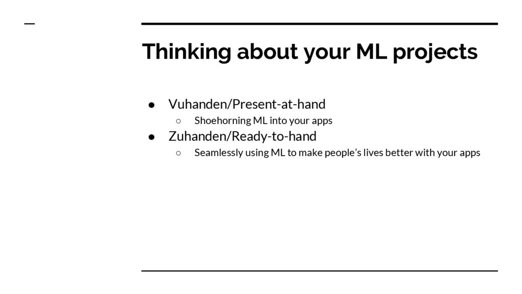 Thinking about your ML projects ● Vuhanden/Pres...