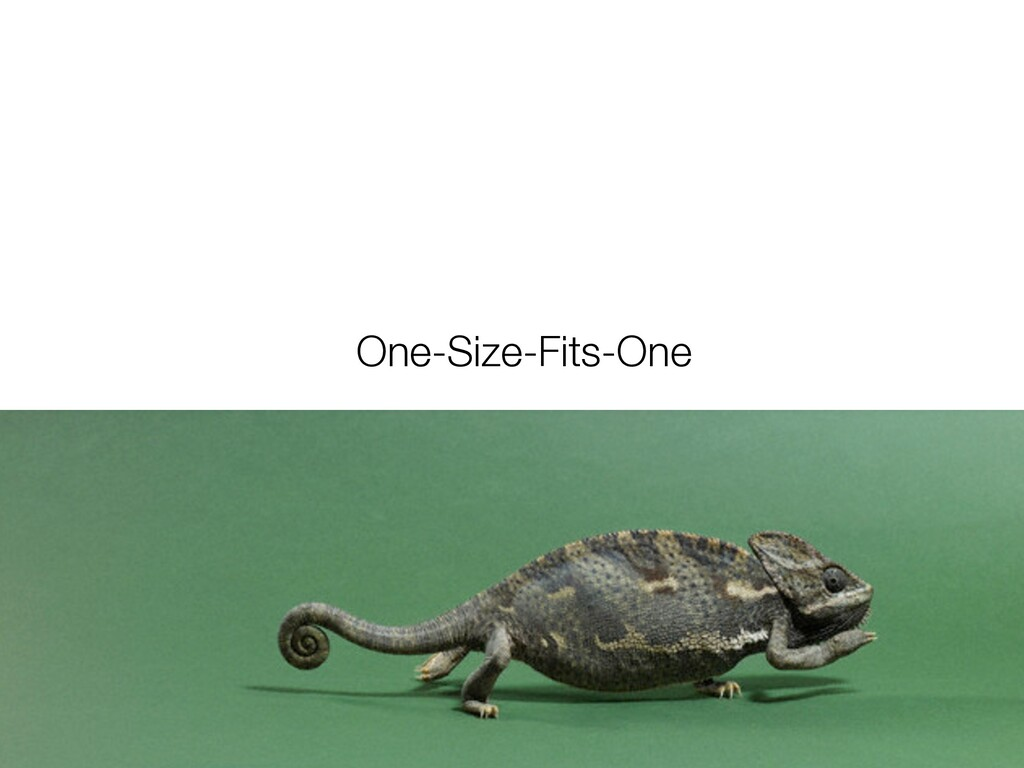 One-Size-Fits-One
