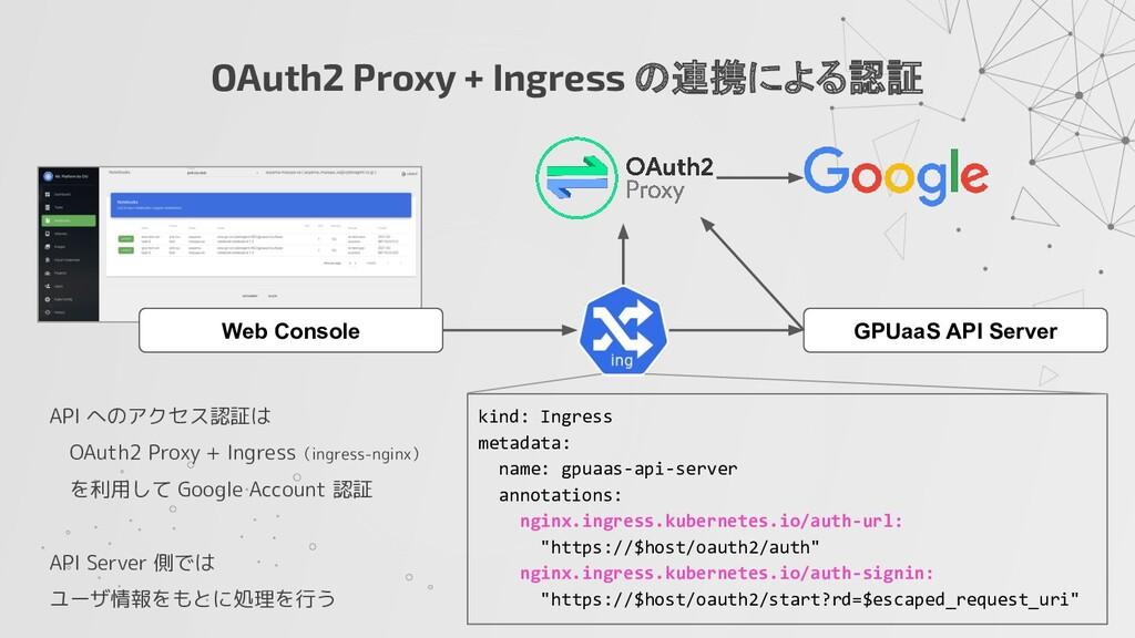 OAuth2 Proxy + Ingress の連携による認証 API へのアクセス認証は  ...