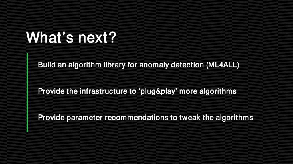 What's next? Build an algorithm library for ano...