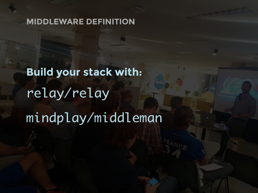 MIDDLEWARE DEFINITION Build your stack with: re...