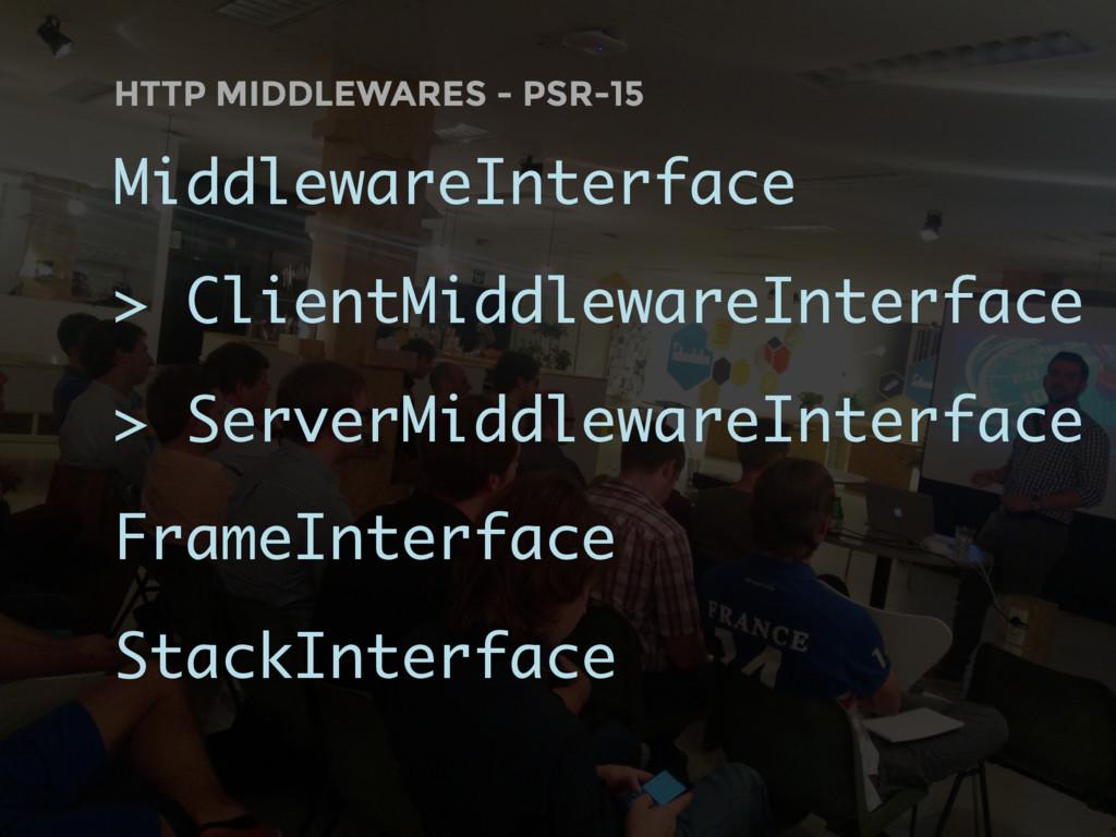 HTTP MIDDLEWARES - PSR-15 MiddlewareInterface >...