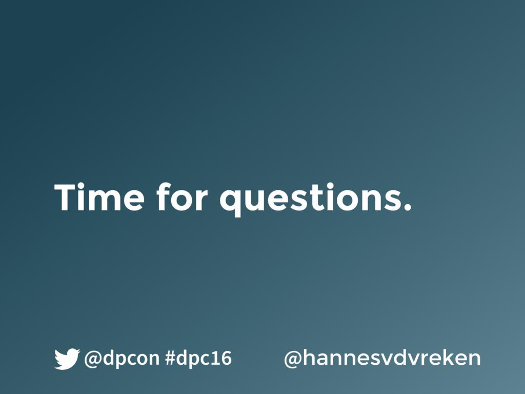 Time for questions. @hannesvdvreken @dpcon #dpc...