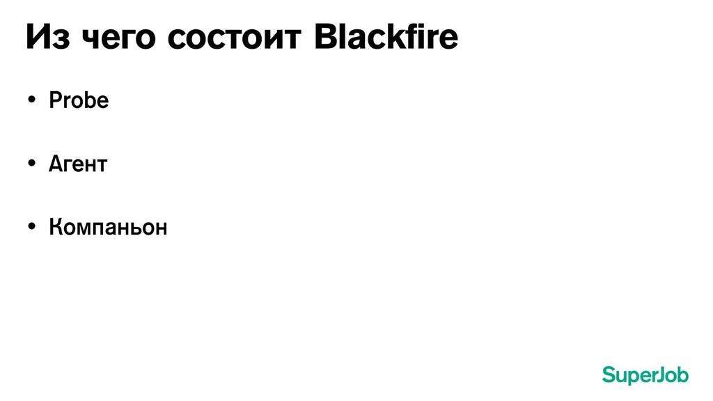 Из чего состоит Blackfire • Probe • Агент • К...