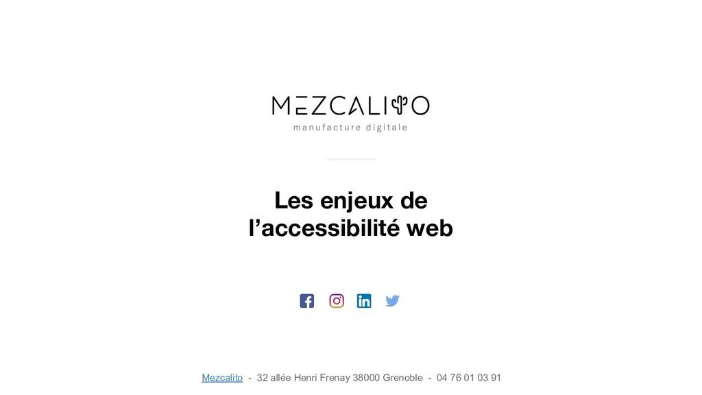 Les enjeux de l'accessibilité web Mezcalito - 3...