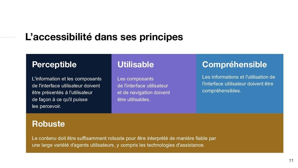L'accessibilité dans ses principes 11 Perceptib...