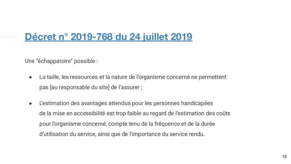 """Décret n° 2019-768 du 24 juillet 2019 16 Une """"é..."""