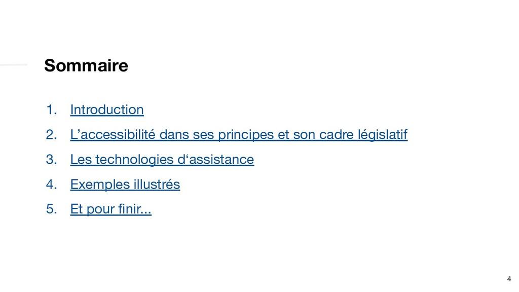 Sommaire 1. Introduction 2. L'accessibilité dan...