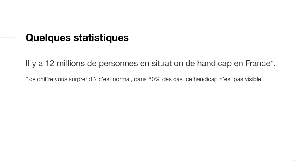 Quelques statistiques Il y a 12 millions de per...