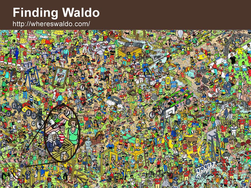 28 Finding Waldo http://whereswaldo.com/