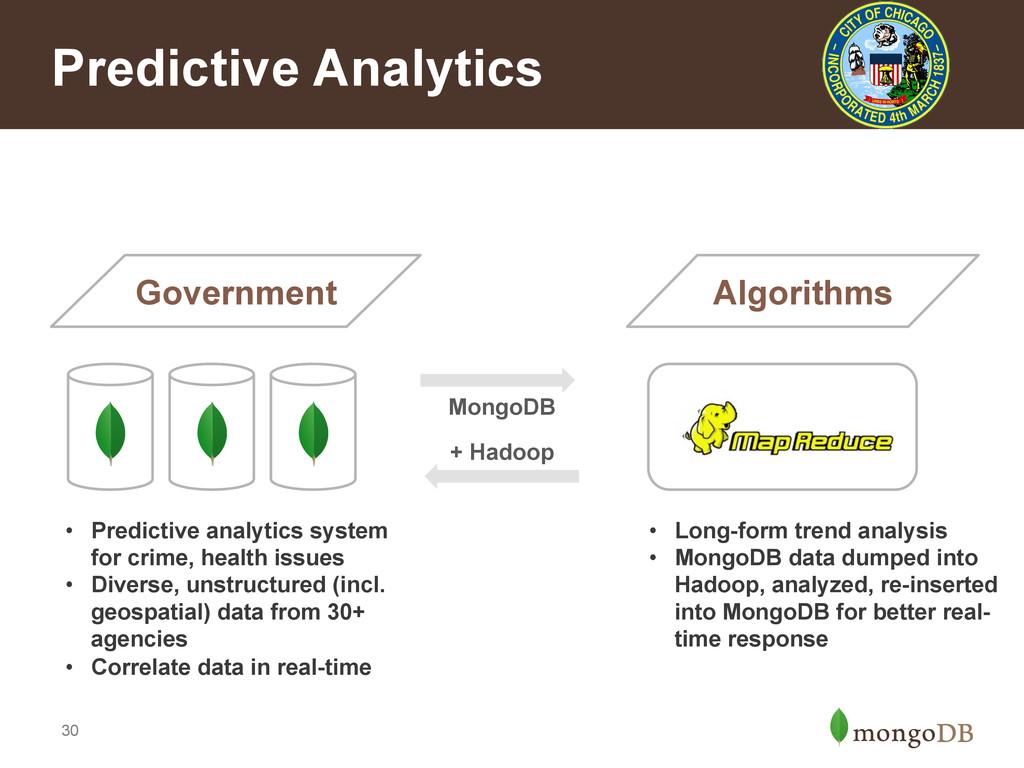 30 Predictive Analytics Government • Predictiv...