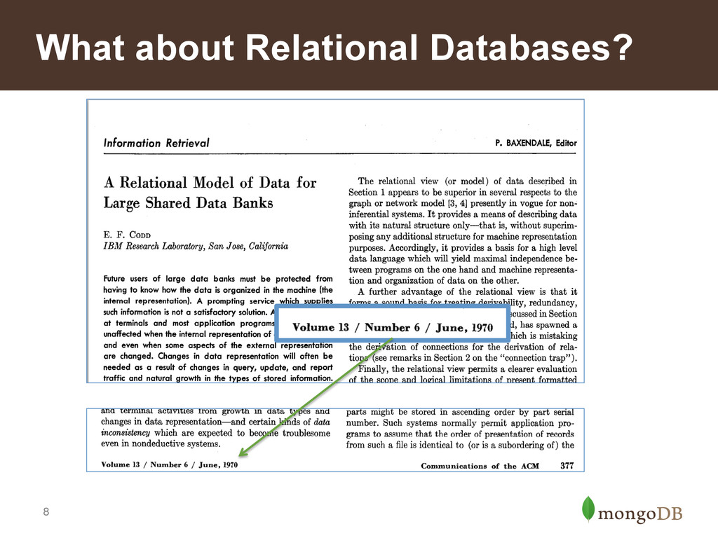 8 What about Relational Databases?