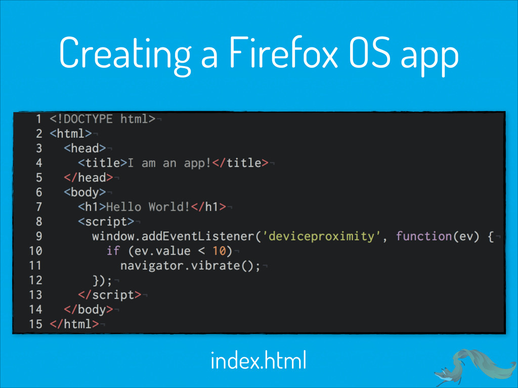 Creating a Firefox OS app index.html