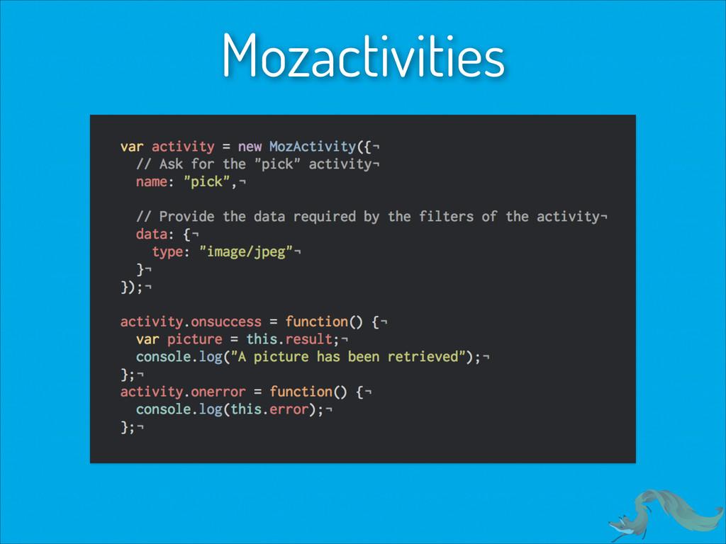 Mozactivities