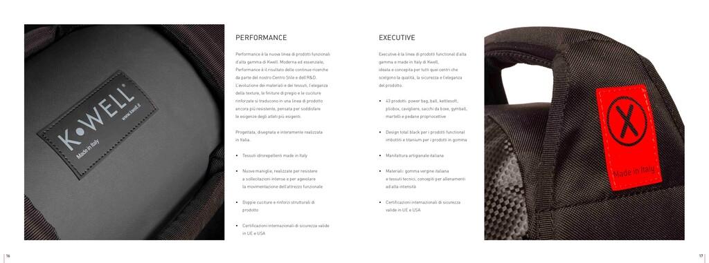 PERFORMANCE Performance è la nuova linea di pro...