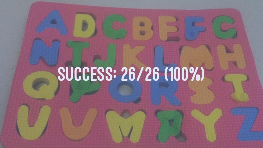SUCCESS: 26/26 (100%)