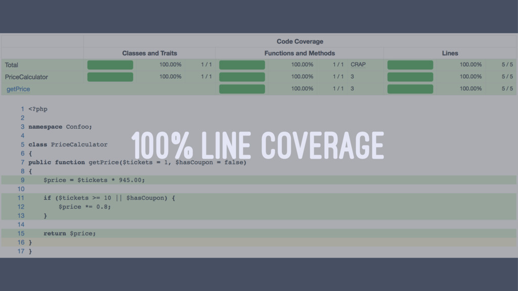 100% LINE COVERAGE