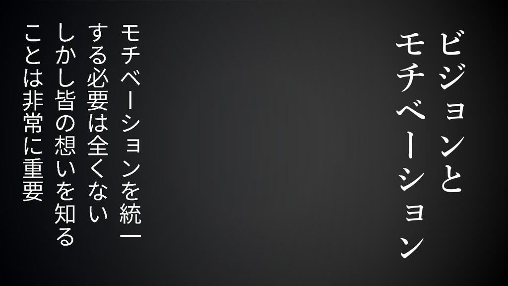 ビ ジ ョ ン と モ チ ベ ー シ ョ ン