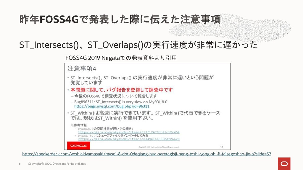 ST_Intersects()、ST_Overlaps()の実行速度が非常に遅かった 昨年FO...
