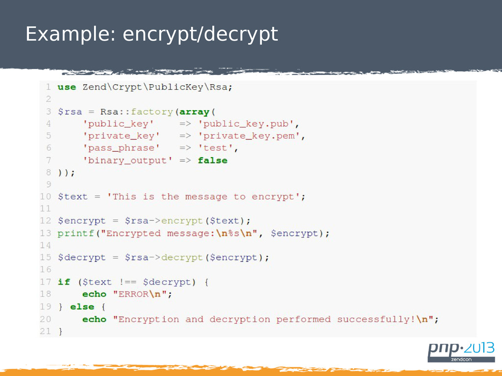 Example: encrypt/decrypt