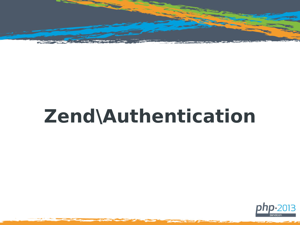 Zend\Authentication
