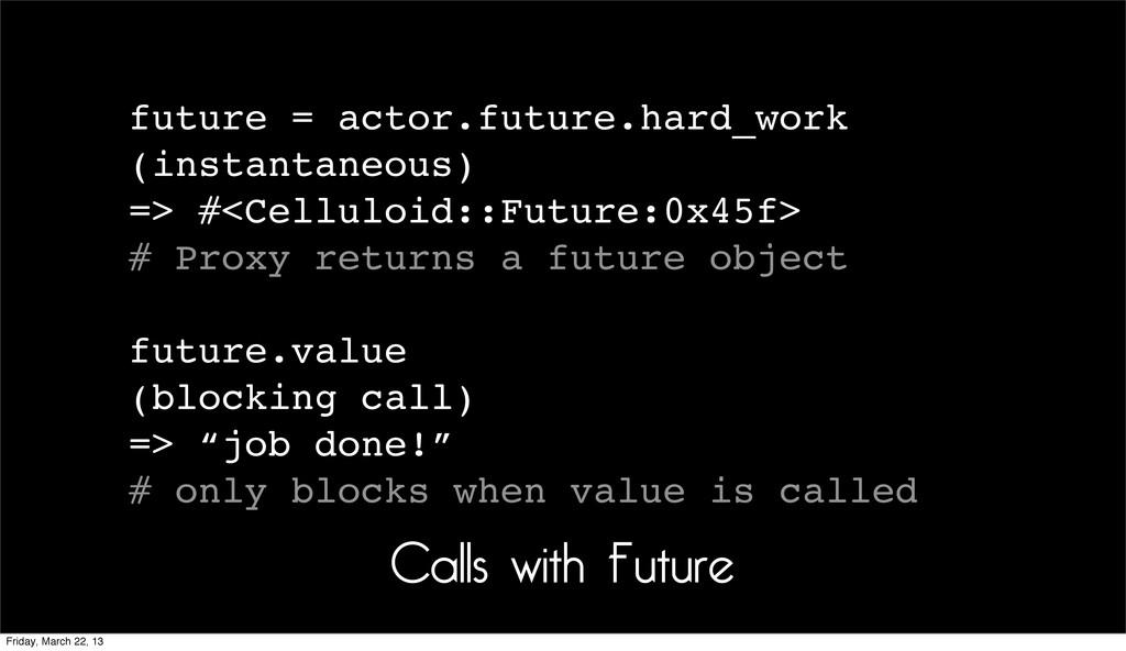 future = actor.future.hard_work (instantaneous)...