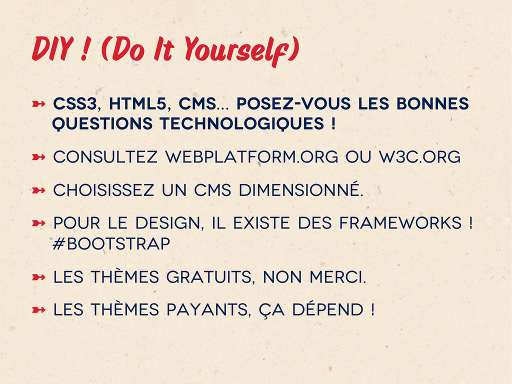 DIY ! (Do It Yourself)