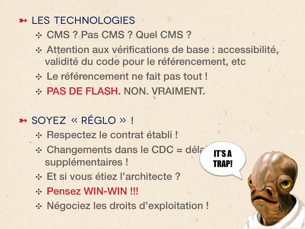 ➼ Les technologies ✣ CMS ? Pas CMS ? Quel CMS...