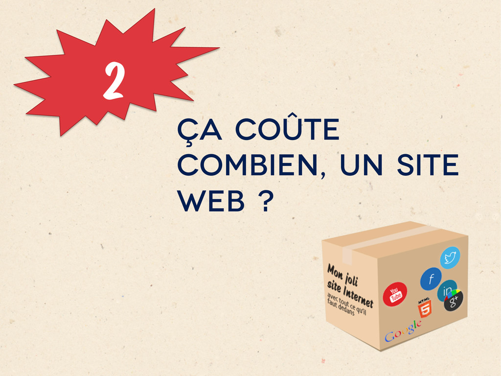 2 ÇA COÛTE COMBIEN, UN SITE WEB ?