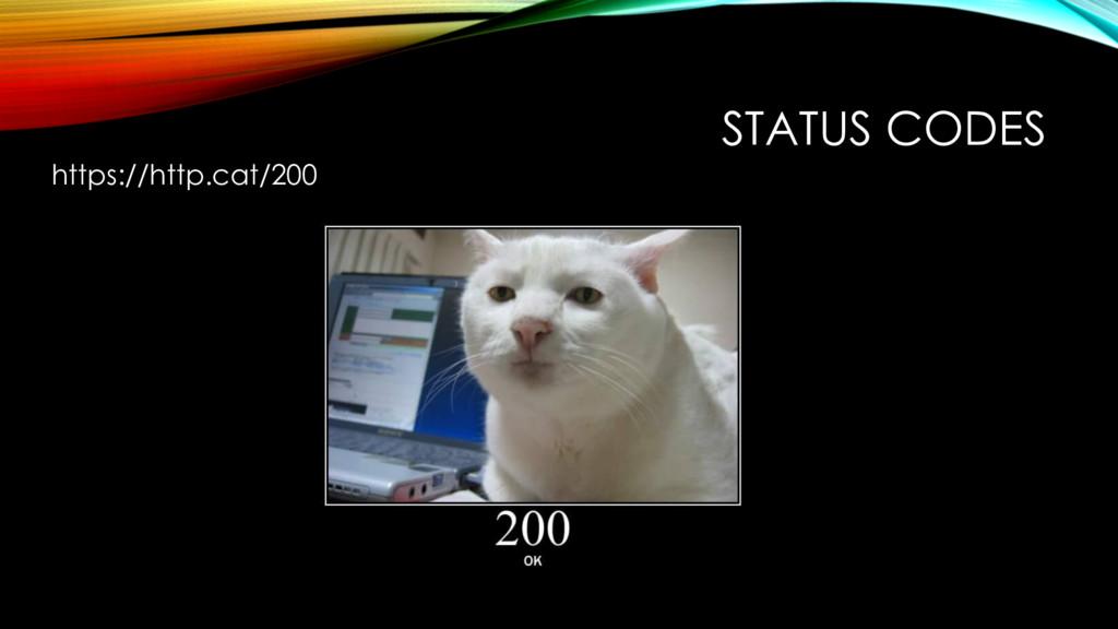 STATUS CODES https://http.cat/200