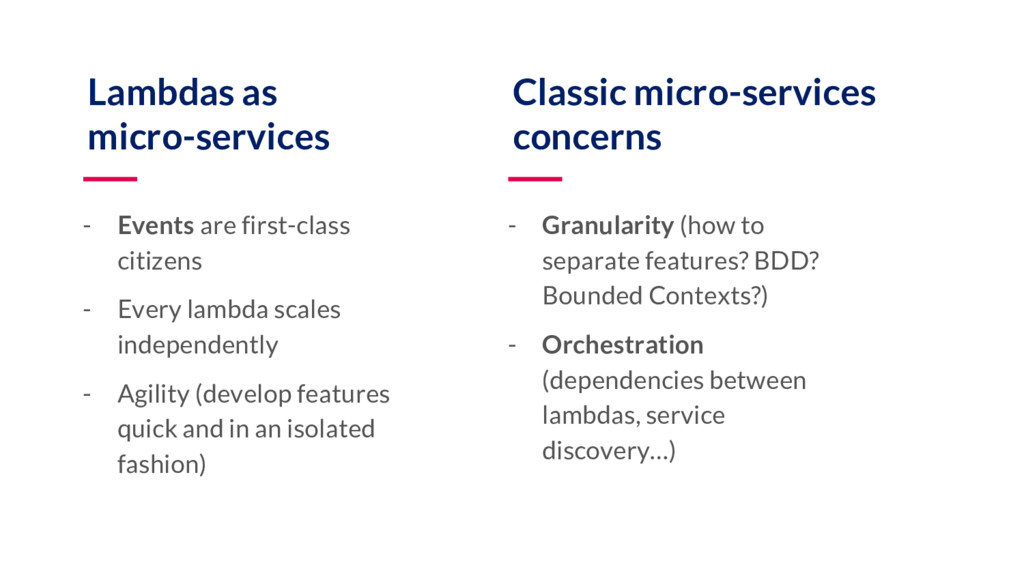 Lambdas as micro-services - Events are first-cl...