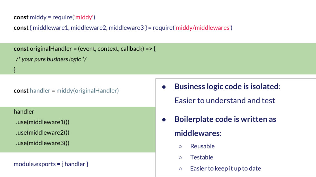 const middy = require('middy') const { middlewa...