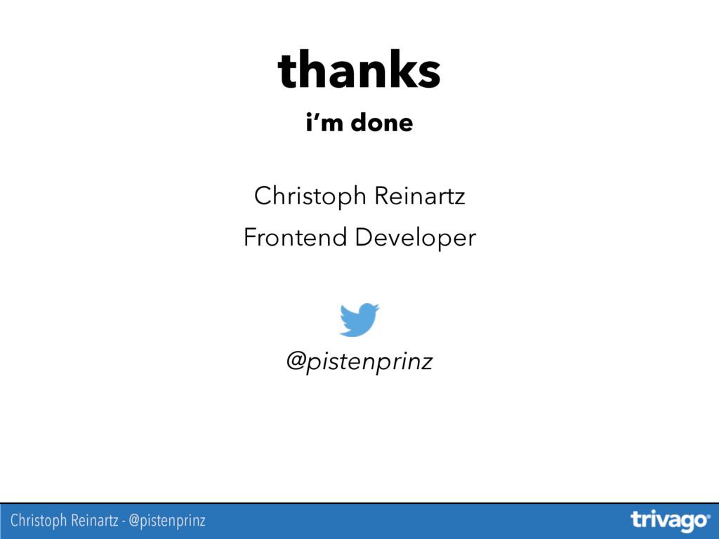 Christoph Reinartz Frontend Developer @pistenpr...