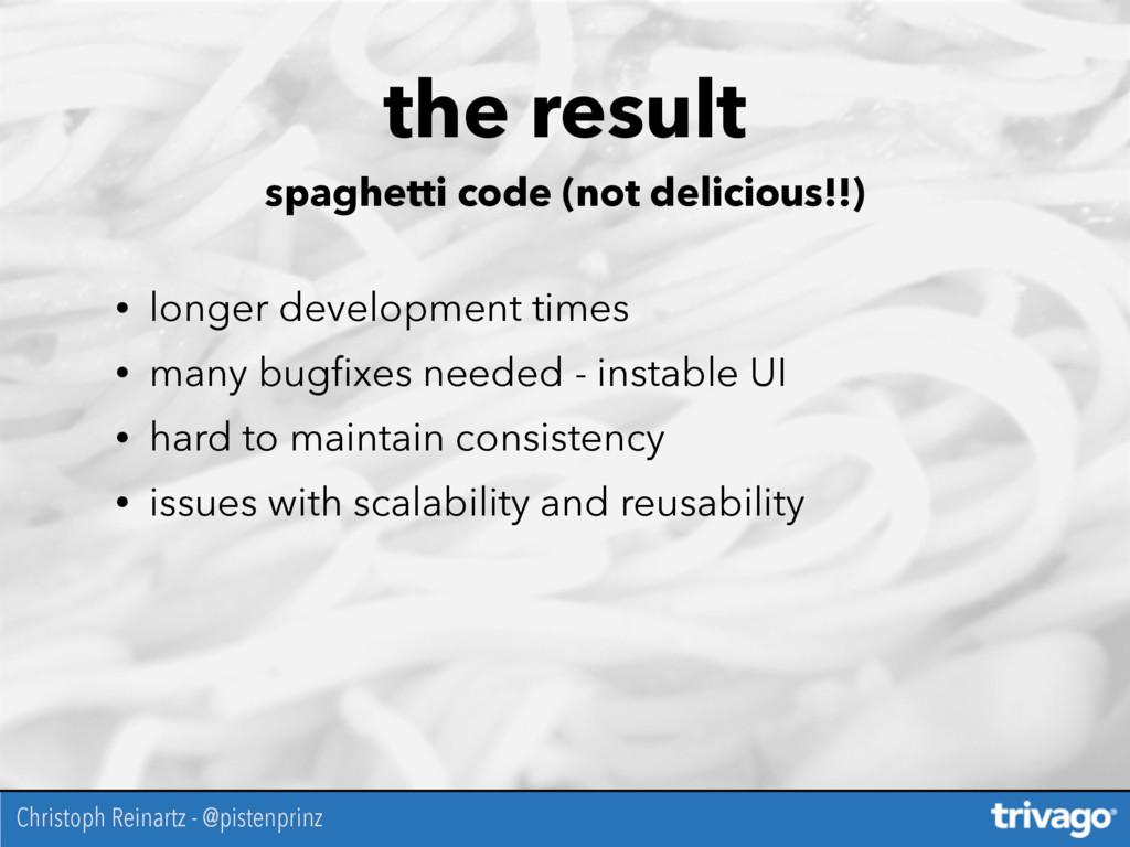 the result spaghetti code (not delicious!!) • l...