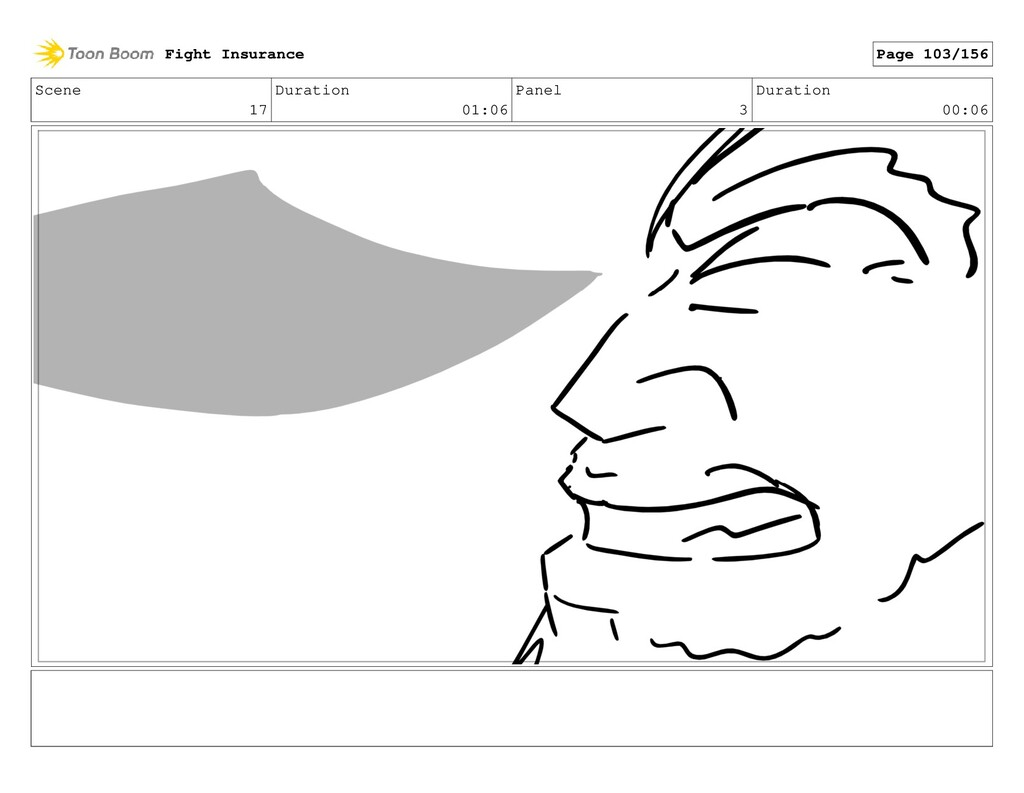 Scene 17 Duration 01:06 Panel 3 Duration 00:06 ...