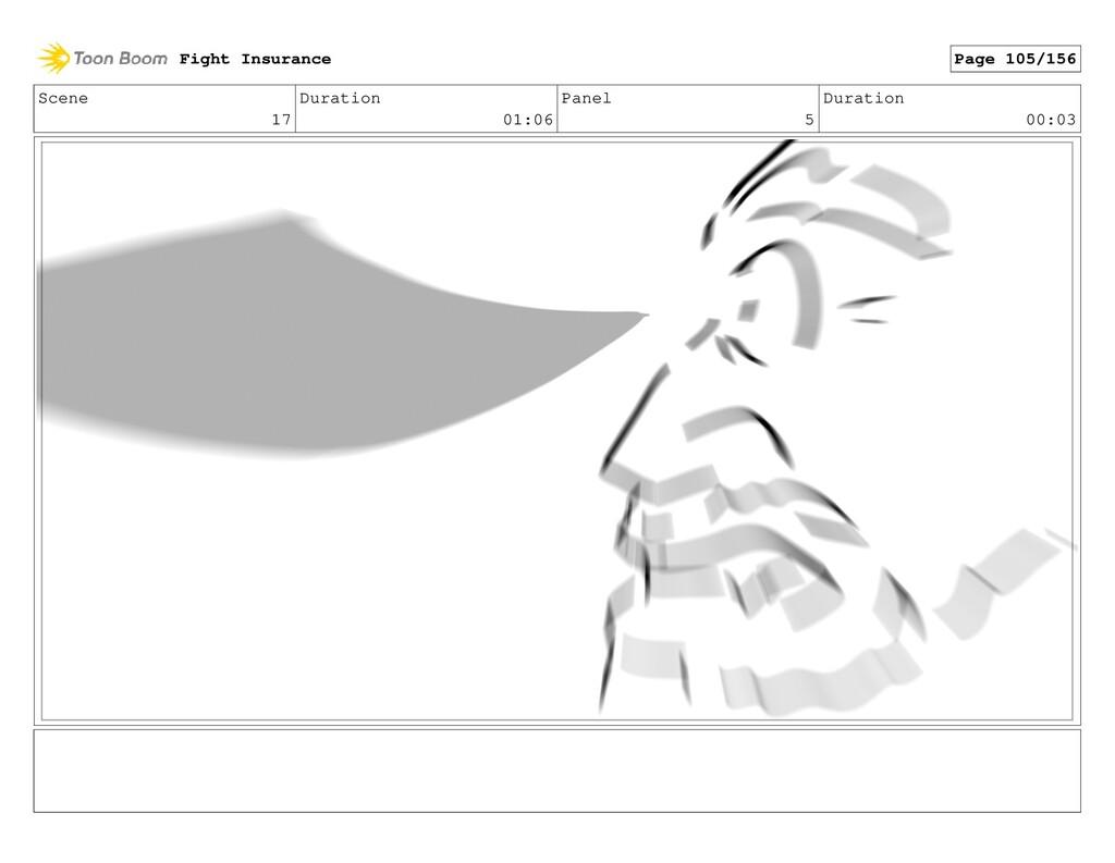 Scene 17 Duration 01:06 Panel 5 Duration 00:03 ...