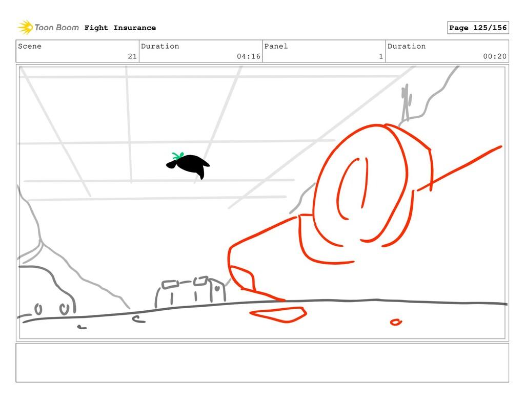Scene 21 Duration 04:16 Panel 1 Duration 00:20 ...