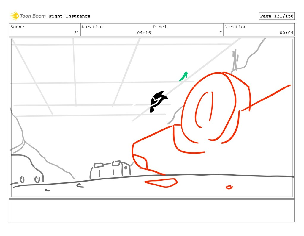 Scene 21 Duration 04:16 Panel 7 Duration 00:04 ...
