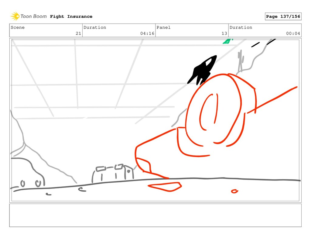 Scene 21 Duration 04:16 Panel 13 Duration 00:04...