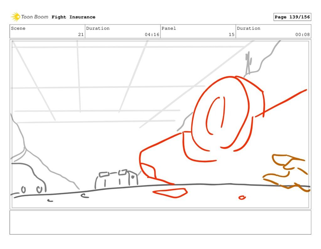 Scene 21 Duration 04:16 Panel 15 Duration 00:08...