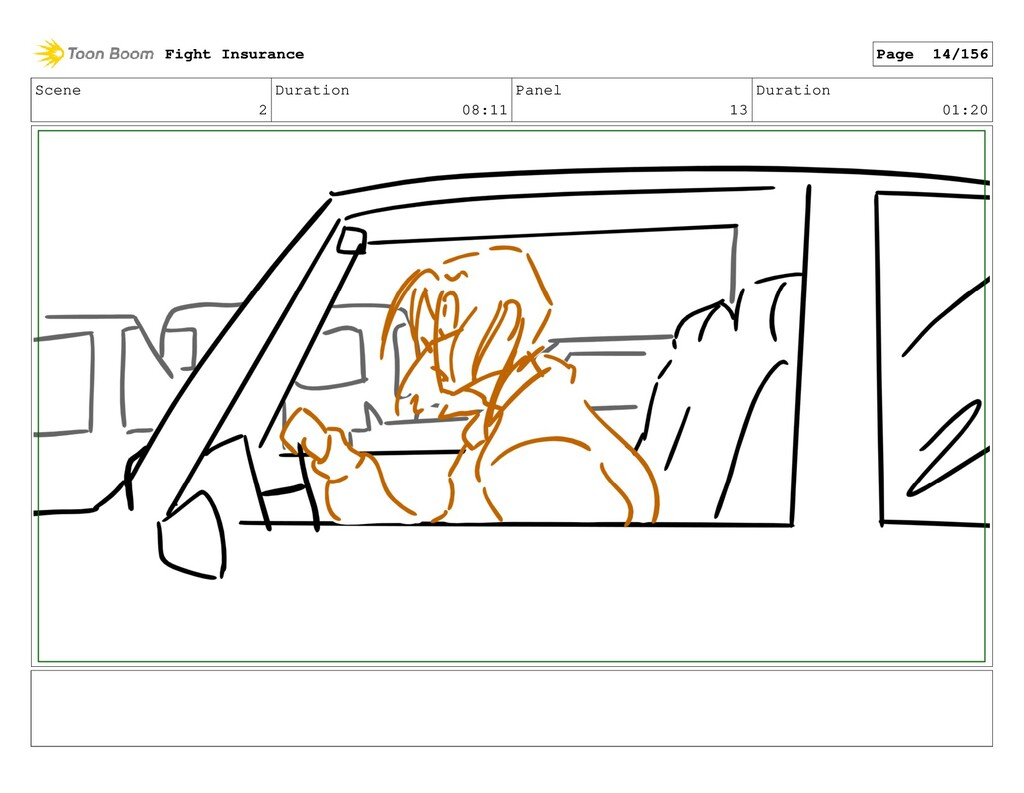 Scene 2 Duration 08:11 Panel 13 Duration 01:20 ...