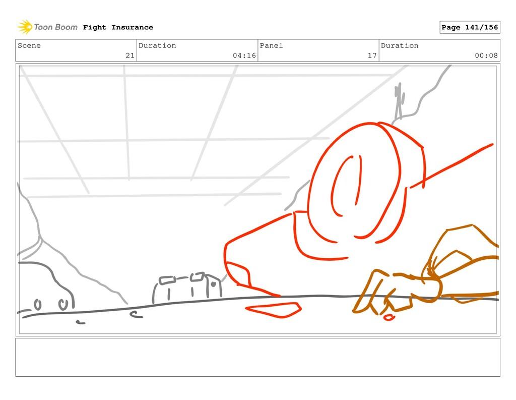 Scene 21 Duration 04:16 Panel 17 Duration 00:08...