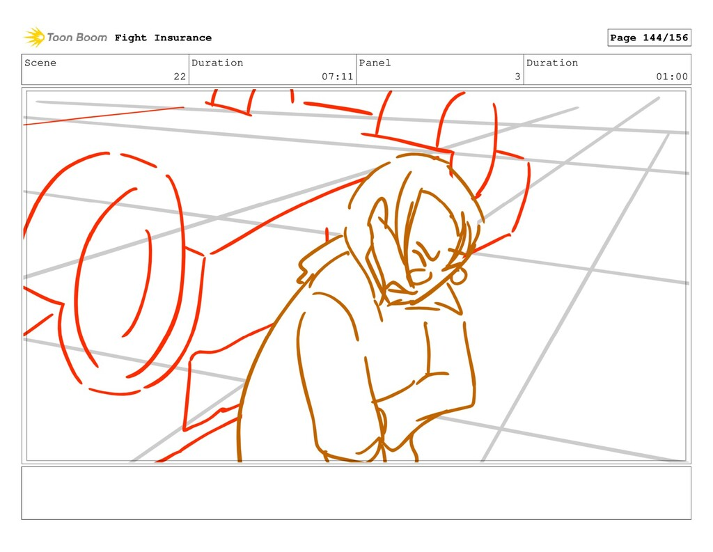 Scene 22 Duration 07:11 Panel 3 Duration 01:00 ...