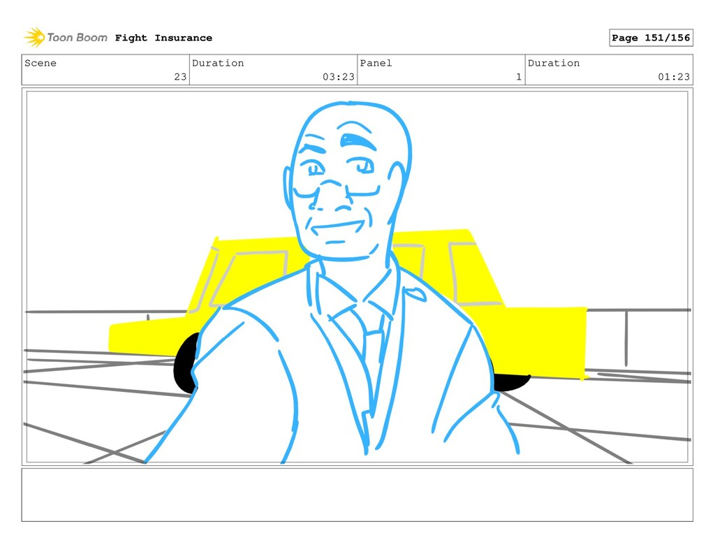 Scene 23 Duration 03:23 Panel 1 Duration 01:23 ...