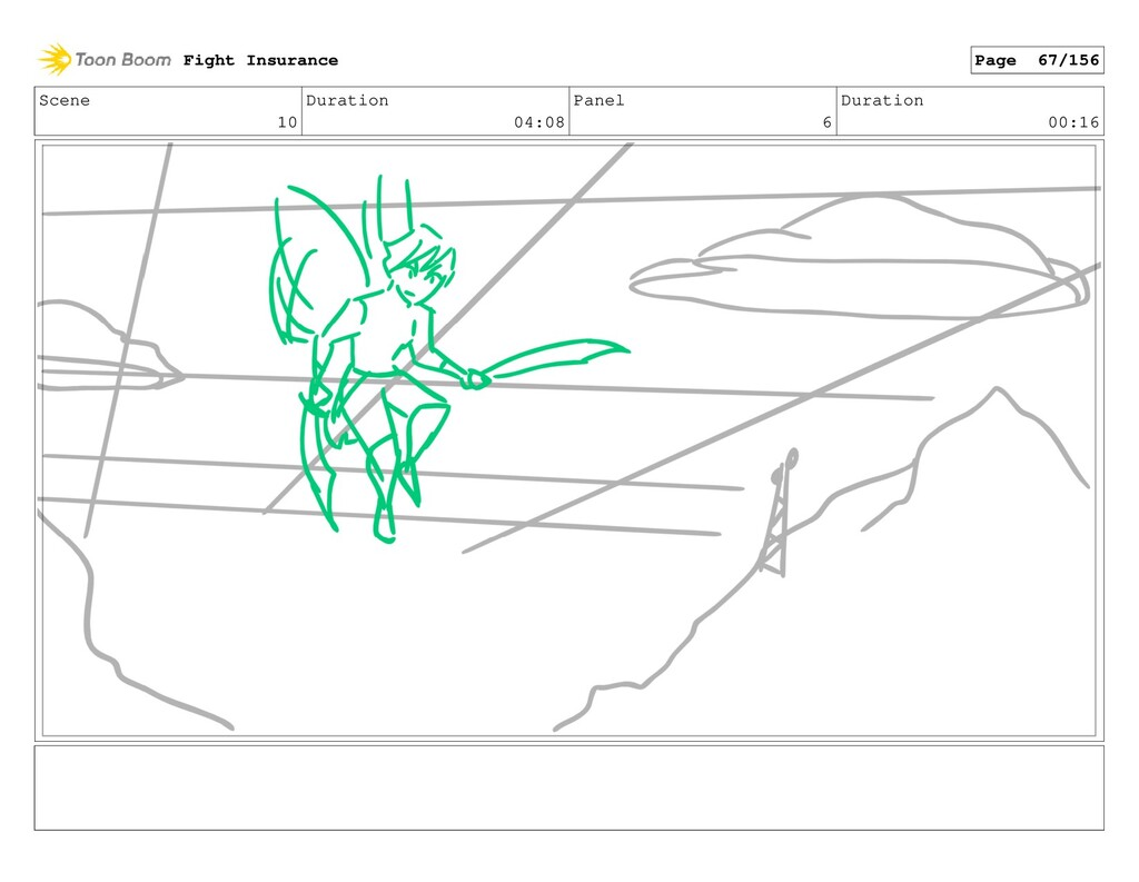 Scene 10 Duration 04:08 Panel 6 Duration 00:16 ...