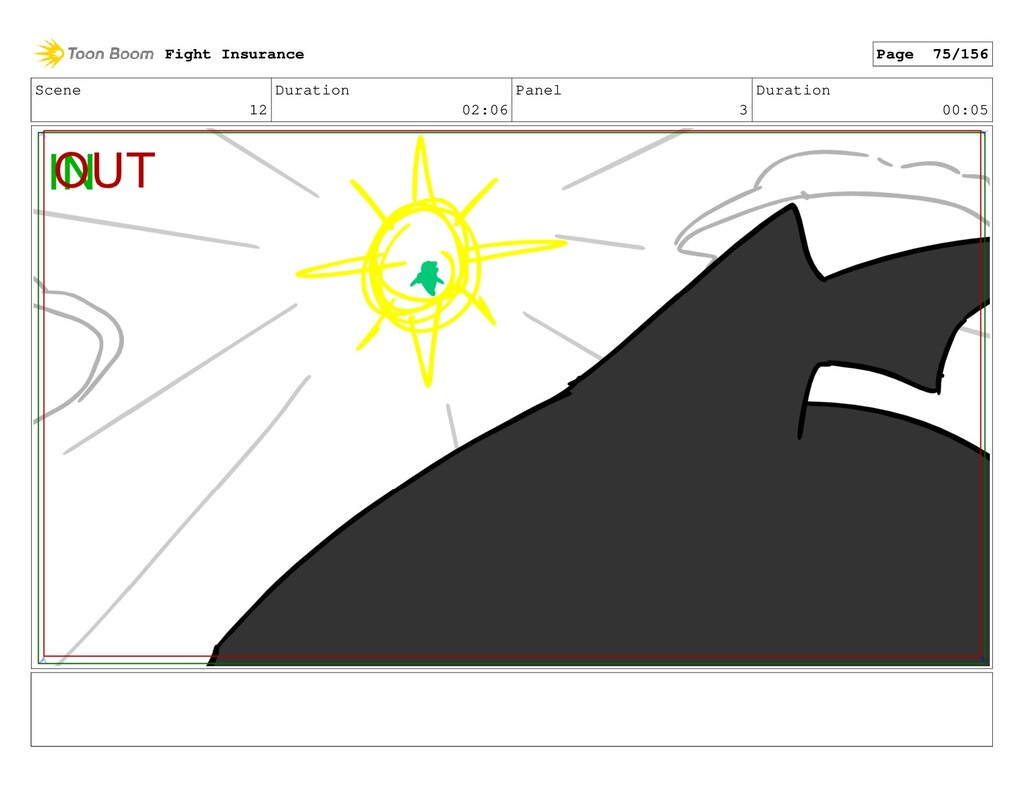 Scene 12 Duration 02:06 Panel 3 Duration 00:05 ...