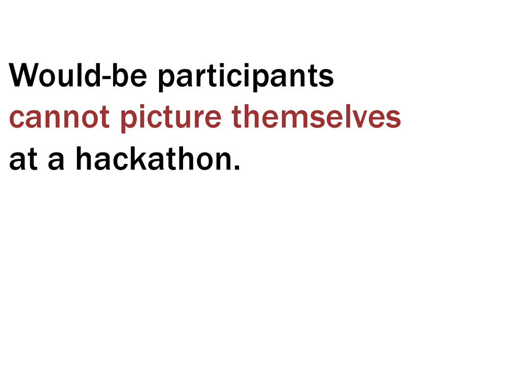 Would-be participants cannot picture themselves...