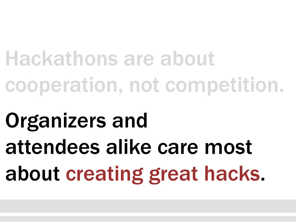 Organizers and attendees alike care most about ...