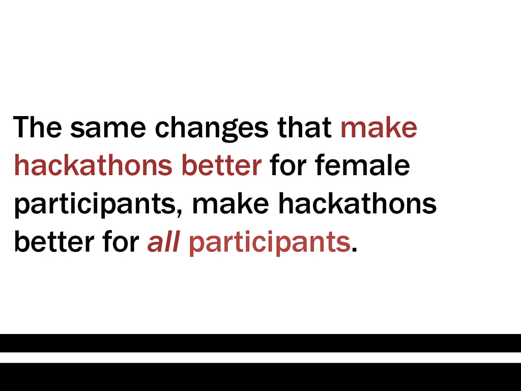 The same changes that make hackathons better fo...